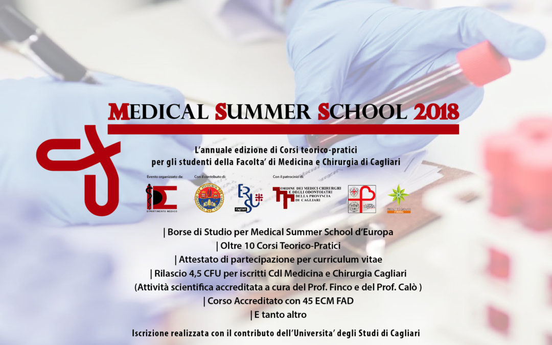 CODICI ALFANUMERICI MEDICAL SUMMER SCHOOL 2018
