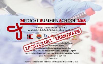 MEDICAL SUMMER SCHOOL 2018 – POSTI TERMINATI