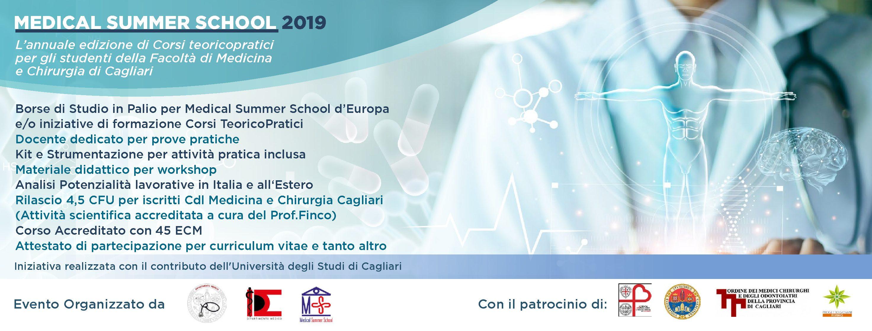 Medical Summer School 2019 – University of Cagliari